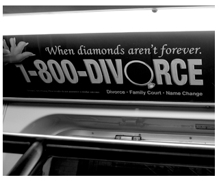 Valentine's, lawyer firm advertising, New York Subway